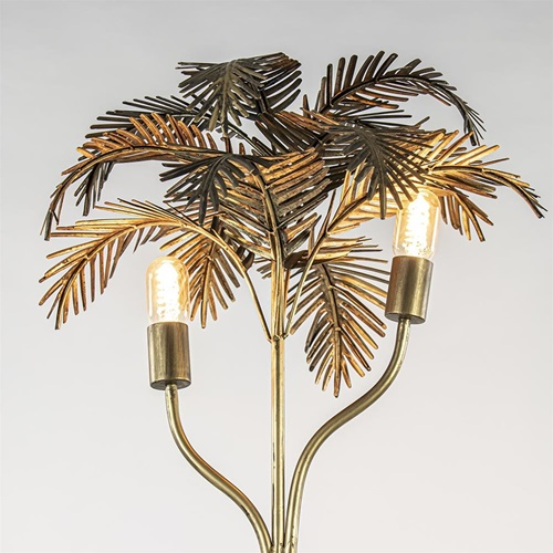 Trendy vloerlamp metalen Palm antiek brons