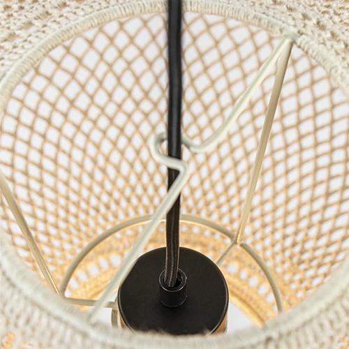 Grote lampenkap Tarida gehaakt naturel 60cm