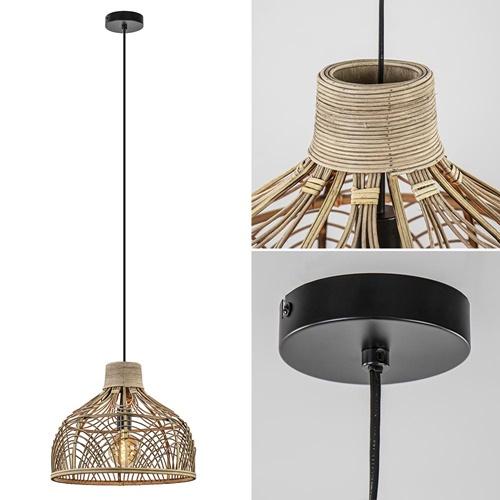 Hanglamp Pocita rotan naturel