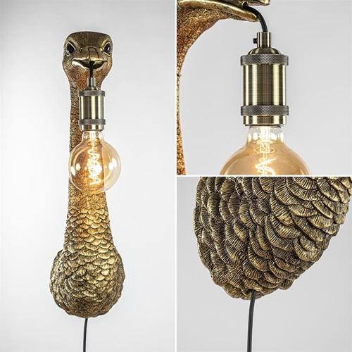Trendy wandlamp Ostrich Light & Living antiek brons