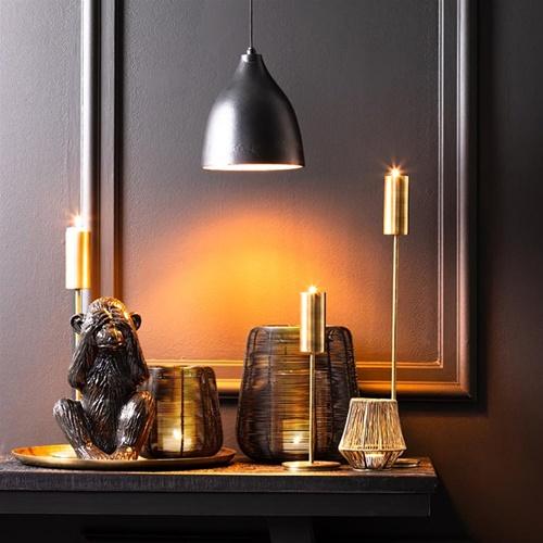 Light and Living hanglamp Sumero zwart met goud