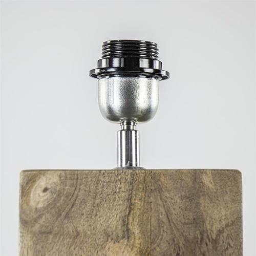 Robuuste lampvoet Robbia hout exclusief kap