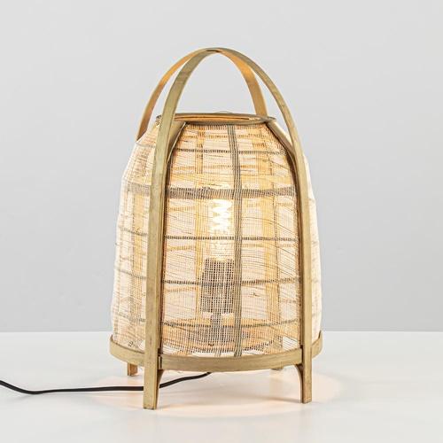 Sfeervolle tafellamp Jacinto naturel Light and Living