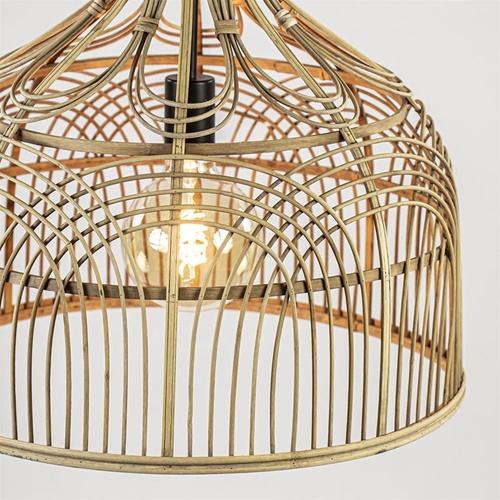 Botanische hanglamp Pocita rotan naturel 48 cm