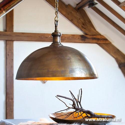 Landelijke hanglamp Adora antiek brons | Straluma