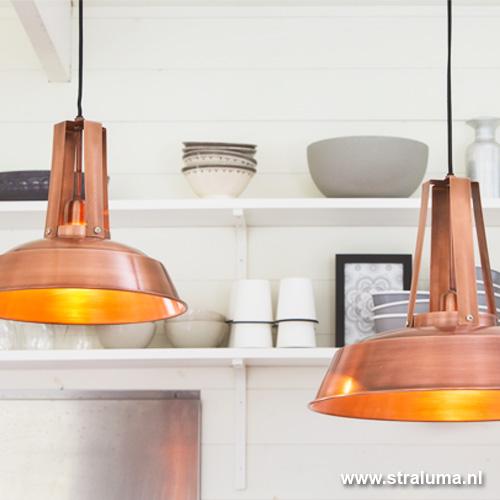 industriele hanglamp inez koper straluma