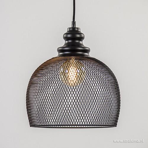 gaas hanglamp karleen zwart slaapkamer straluma