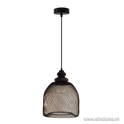 Gaas hanglamp Karlijn zwart woonkamer | Straluma
