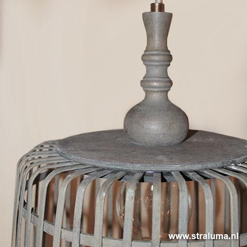 Landelijke hanglamp Malakka mand groot   Straluma
