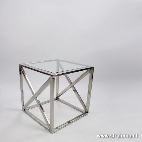 Design Bijzettafel Chroomglas.Bijzettafel Chroom Temahome Bijzettafel Prairie X X Cm Zwart Marmer