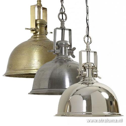 Antiek zilveren hanglamp kennedy keuken straluma for Industriele lamp keuken