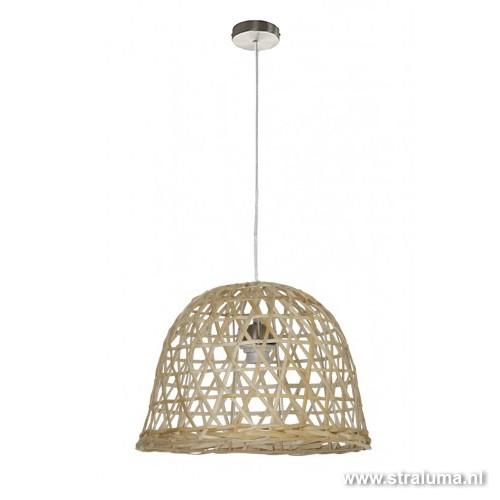 bamboe hanglamp mand slaapkamer straluma