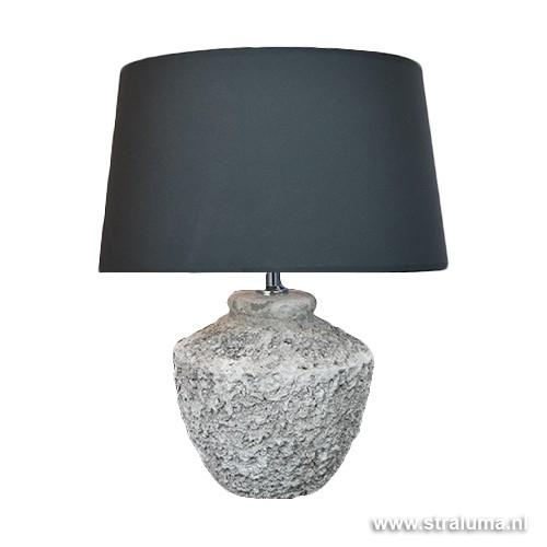 Genoeg Grove betonnen tafellamp-voet Toba L&L | Straluma #SR88