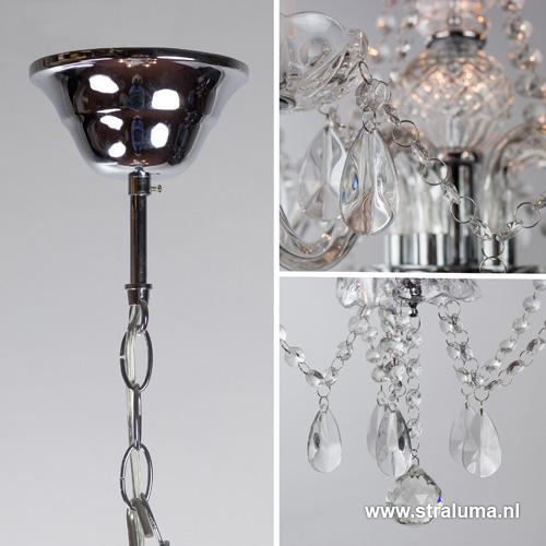 Klassieke glazen kroonluchter hanglamp straluma for Klassieke hanglamp