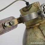 Light Living bureaulamp Ekerd hout-staal