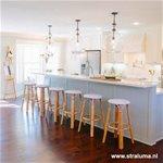 Glazen hanglamp Gabi keuken, hal,