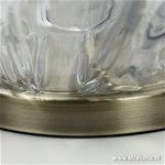 **Klassieke glazen tafellamp Guido brons