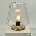 Tafellamp Glas/ brons Guido Light Living