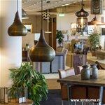 Light & Living hanglamp Saida brons/hout