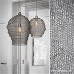 Grijze gaas hanglamp Nikki Light Living