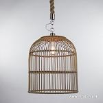 *Landelijke hanglamp riet/touw keuken