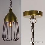 Antiek bronzen hanglamp Udine draad