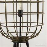 Metalen kooi vloerlamp oud-brons
