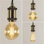 *Eettafelhanglamp 5-lichts zwart-brons