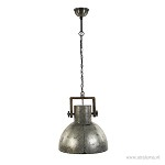 Hanglamp grijs staal/ hout L&L