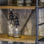 *LED Kooi-lamp metaal op batterijen