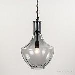 *L&L hanglamp smoke glas zwart groot