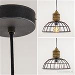 **Draad hanglamp metaal/ hout L&L