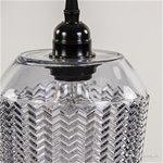 Kleine hanglamp modern met grijs glas