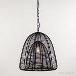 Moderne hanglamp zwart metaaldraad
