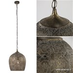 Oosterse hanglamp goud- bruin