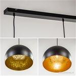 Jaicey hanglamp zwart/goud Light Living