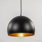 Zwarte hanglamp Jaicey met goud