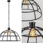 Metalen hanglamp Irini open koepel 70 cm