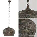 Sfeervolle Oosterse hanglamp goud/bruin