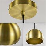 Hanglamp Jaicey mat goud light en living