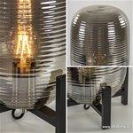 Light & Livin tafellamp Nibali met zwart
