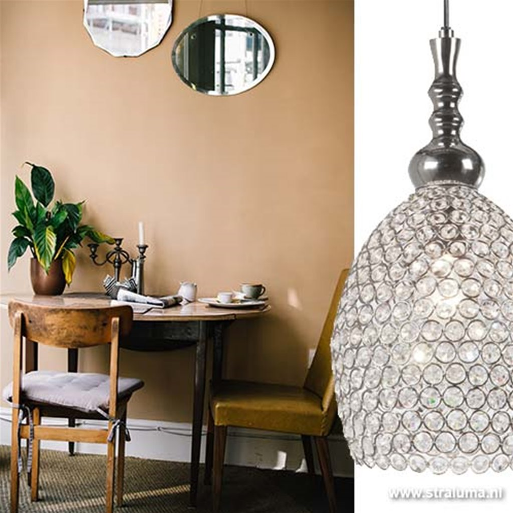 Light & Living hanglamp Elza kristal
