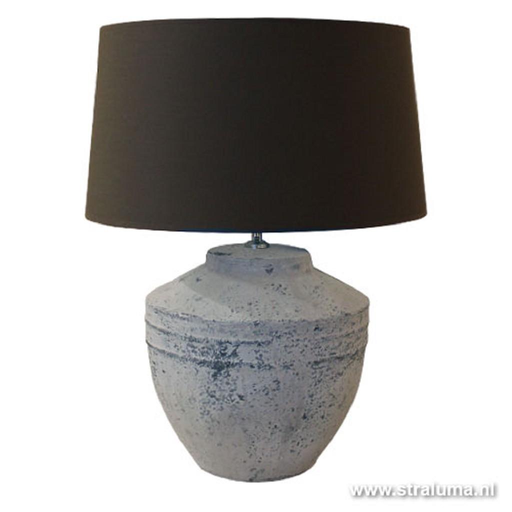 Grove stenen vaaslamp Toba tafellamp