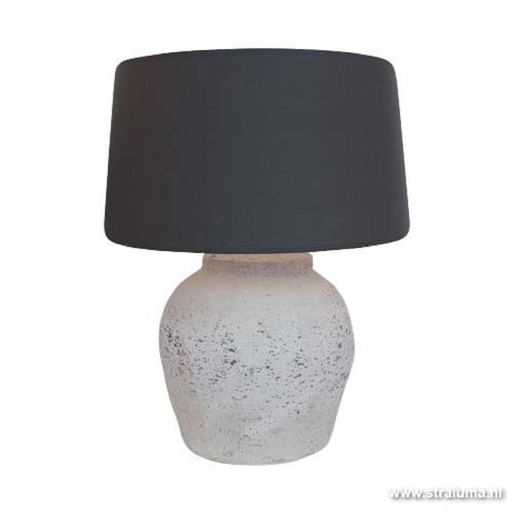 Stoere stenen vaaslamp Etna lifestyle