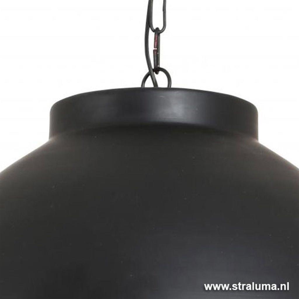 L&L hanglamp Kylie XL zwart/goud 60cm