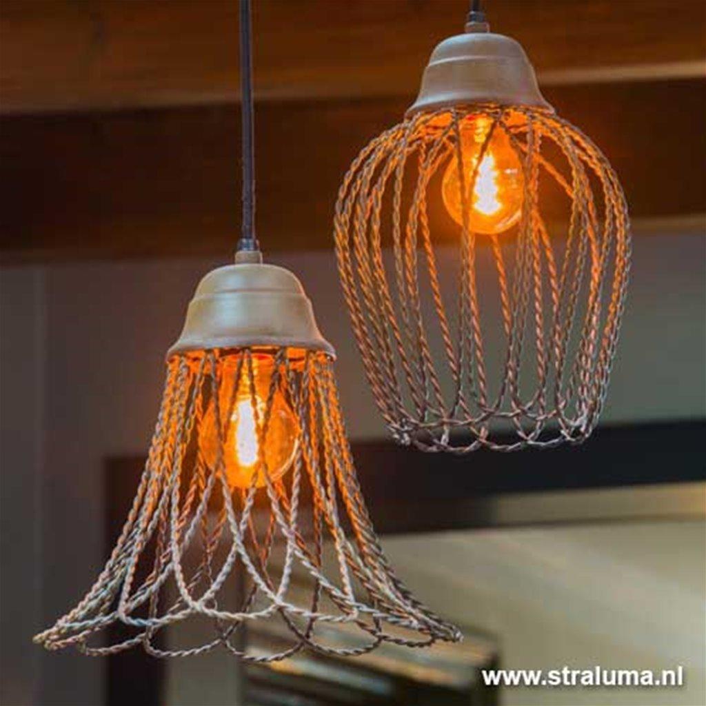 Hanglamp beton-look Bettina wc-hal-bar