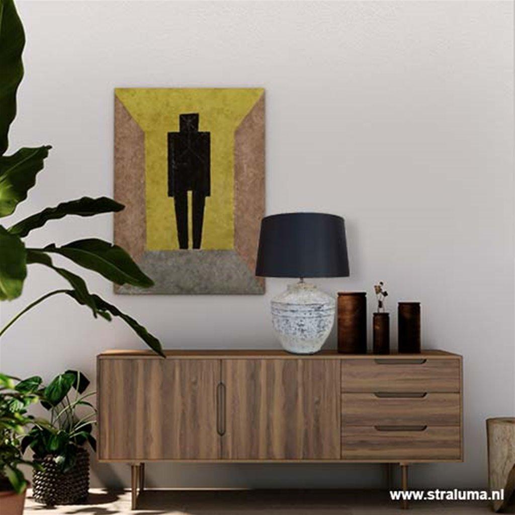 Grove tafellamp Toba lampenvoet L&L