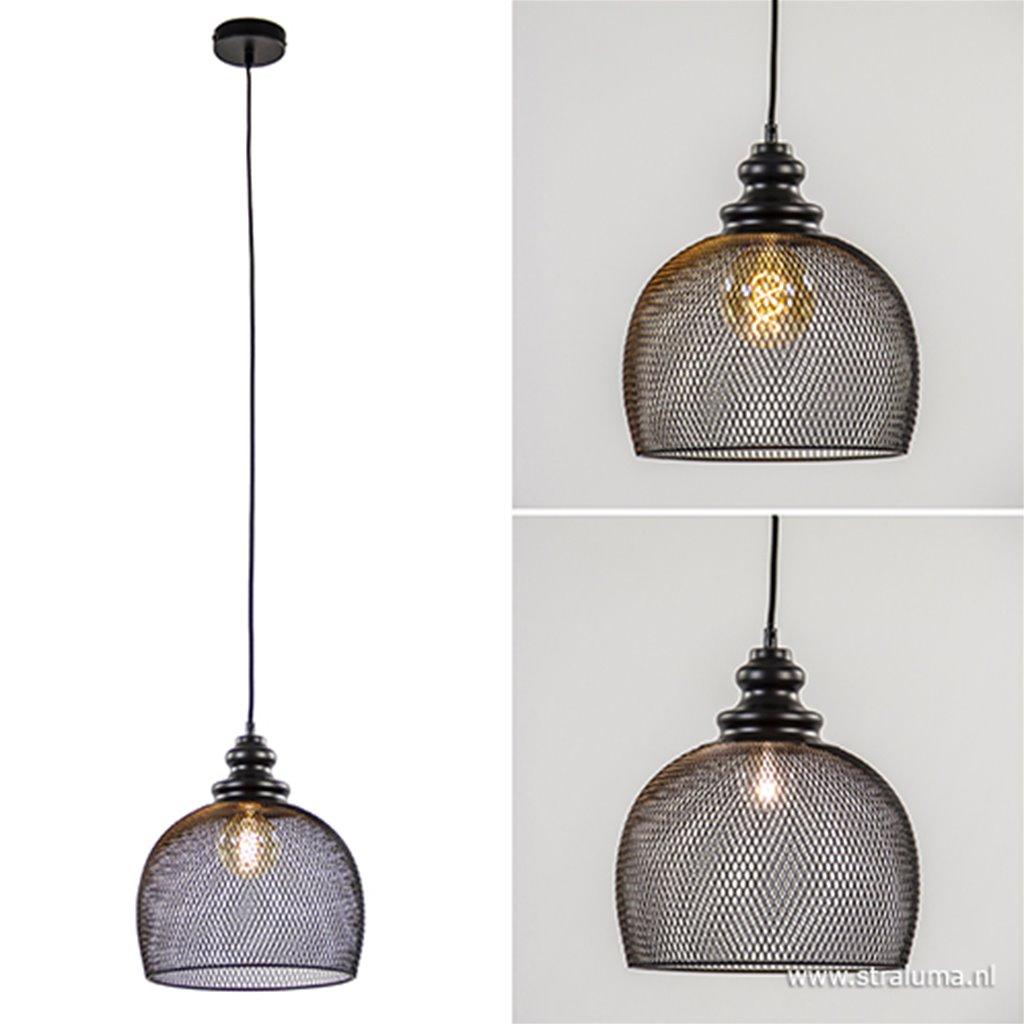 Light & Living hanglamp Karleen zwart