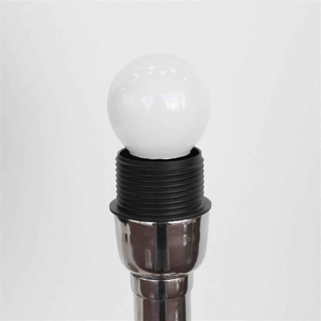 Zilveren lampvoet Delhi excl. lampenk