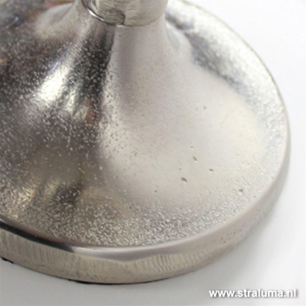 Antiek zilver tafellamp voet Narvik